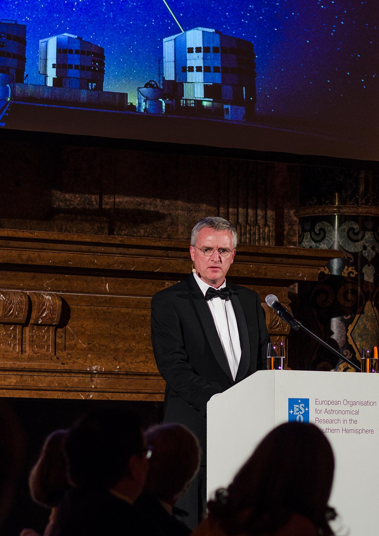 Tim de Zeeuw at the ESO 50th Anniversary Gala Event