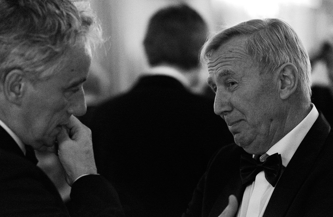 Pierre Cox and Thijs de Graauw at the ESO 50th Anniversary Gala Event
