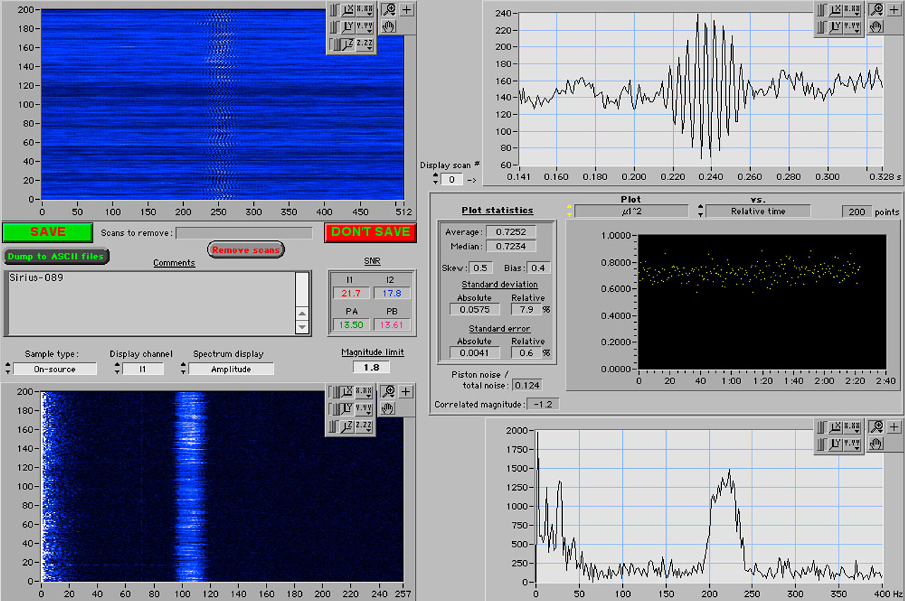 First fringes of Sirius with VLTI