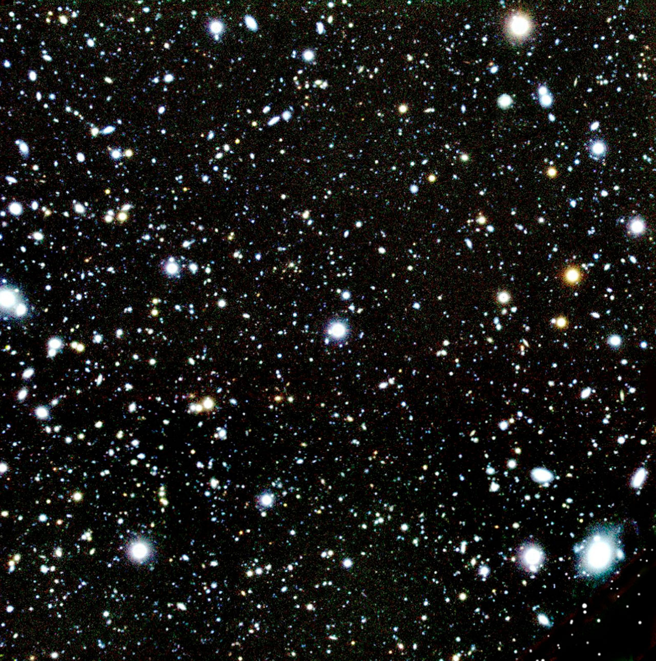 Colour-Composite of the Sky Field with Several High-Redshift Galaxies