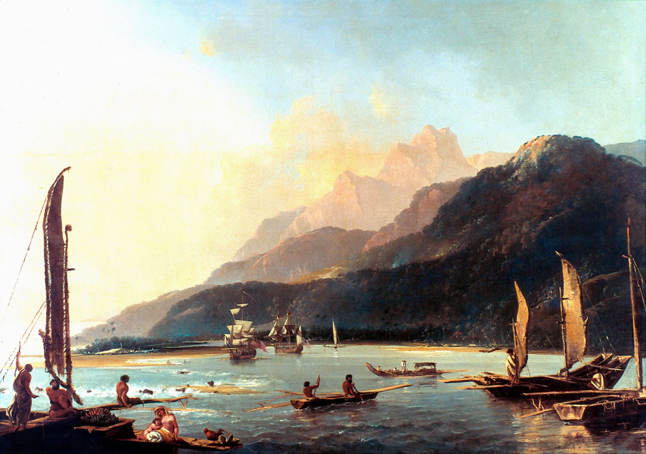 Observing the Venus Transit at Tahiti in 1769 (oil painting)