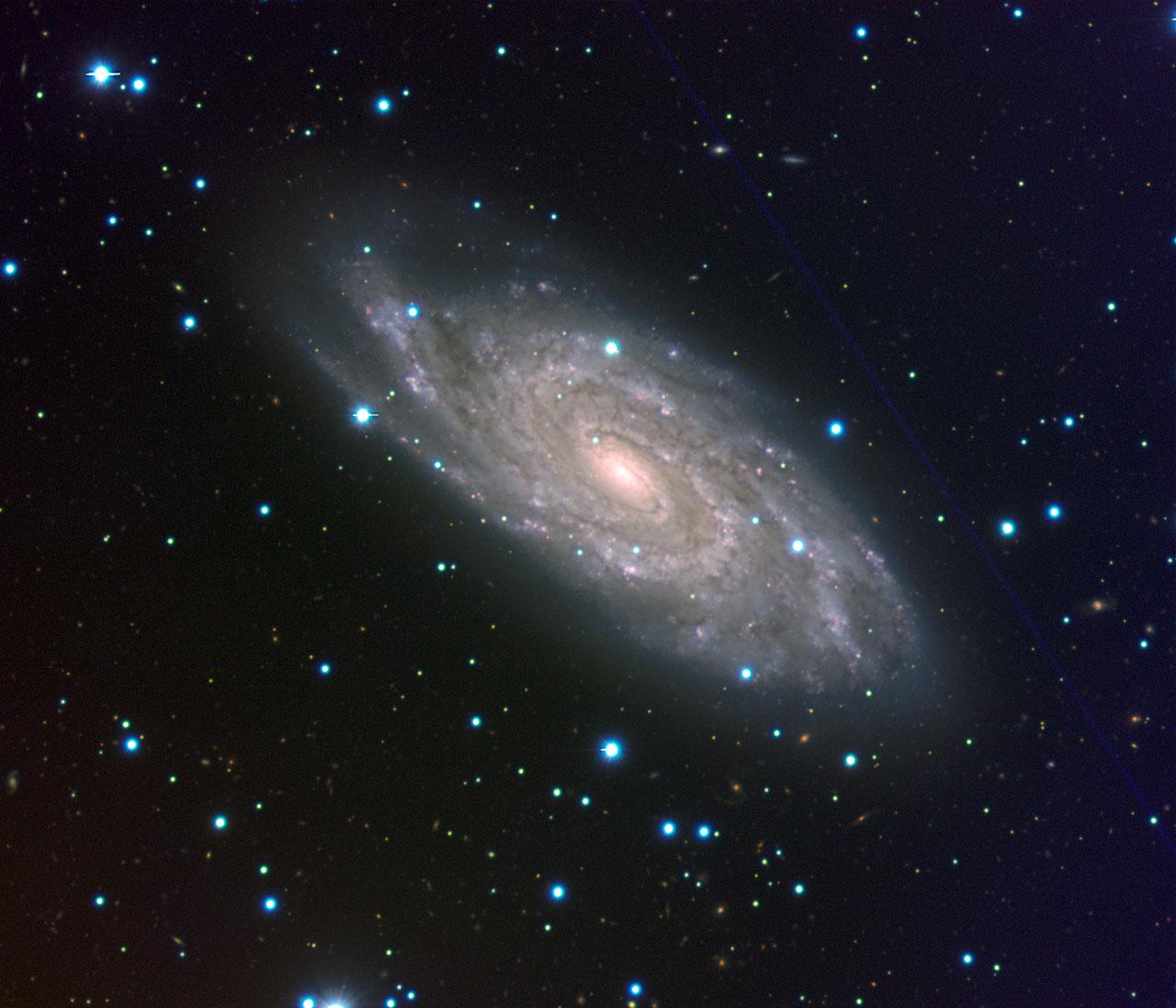 Spiral galaxy NGC 6118