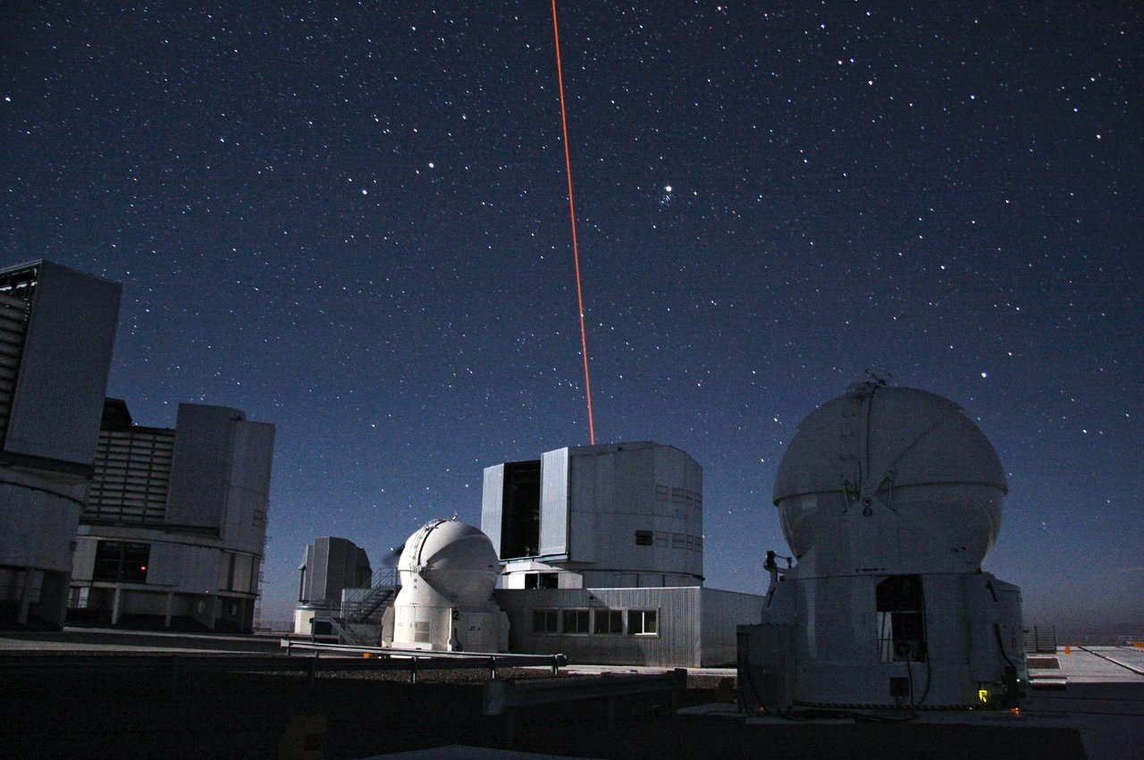 An Artificial Star Above Paranal