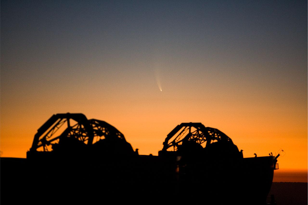 El cometa McNaught y Telescopios Auxiliares
