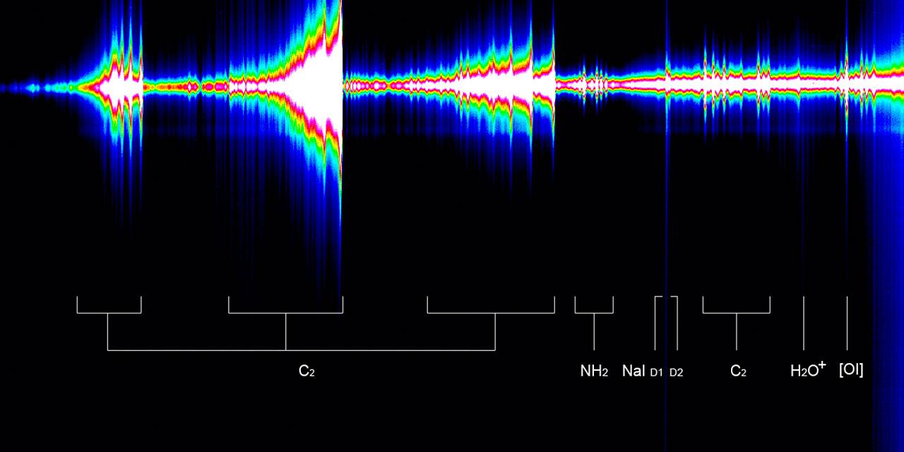 Spectrum of Comet McNaught