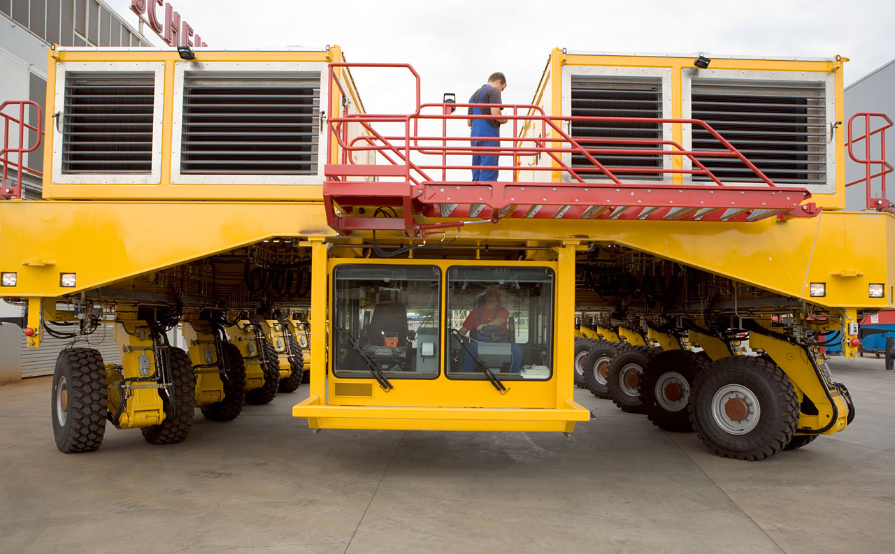 Transportador de ALMA - Vista Frontal