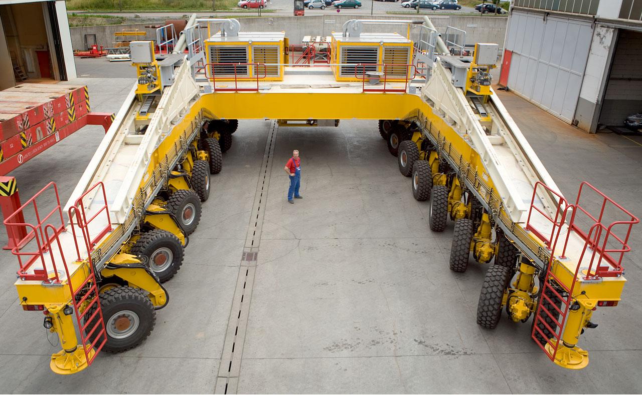 Transportador de ALMA - Vista Trasera