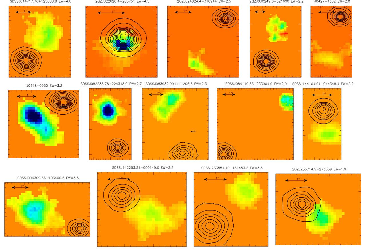Newly Found Galaxies (SINFONI/VLT)