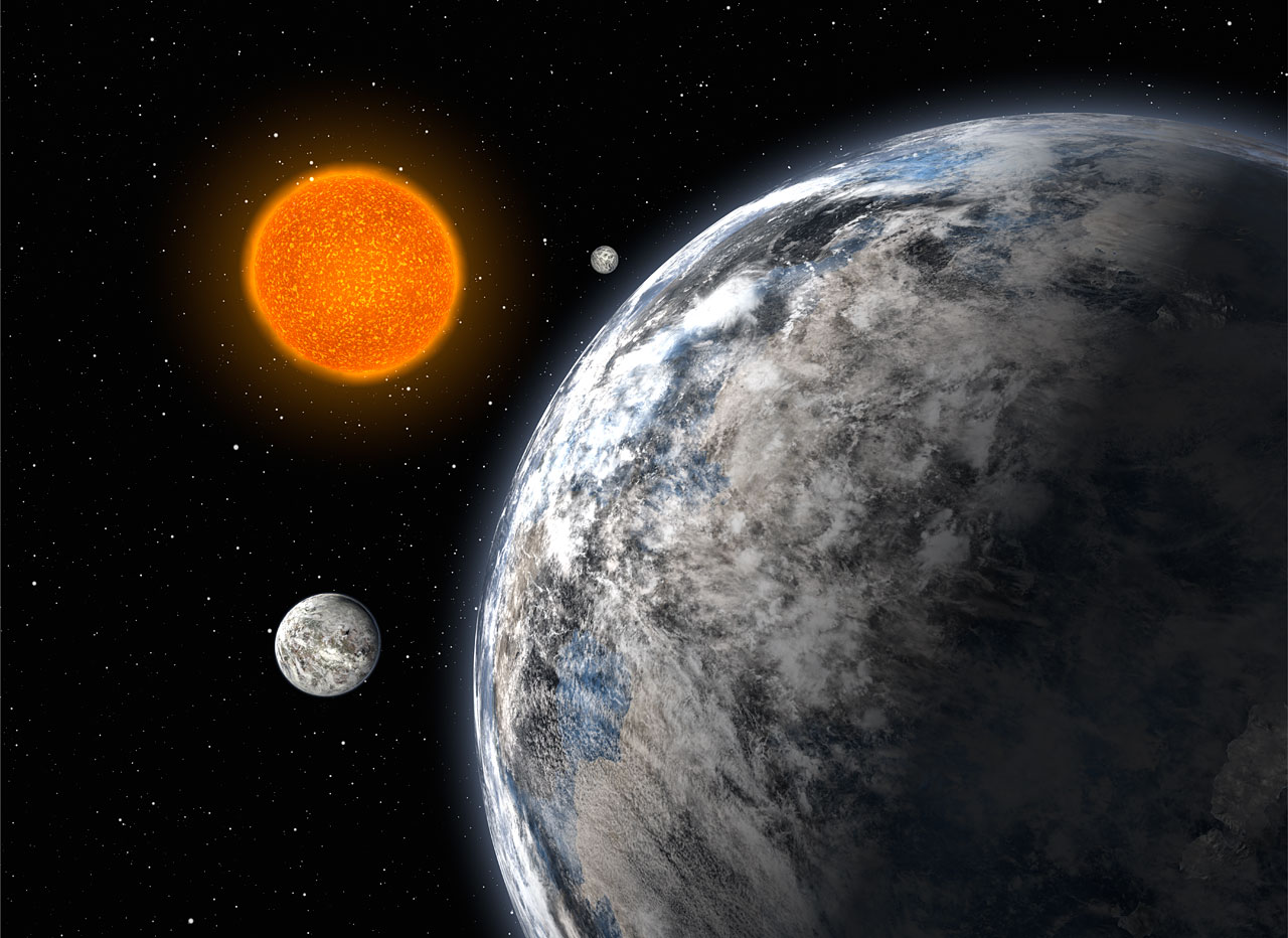 A Trio of Super-Earths (artist's impression)