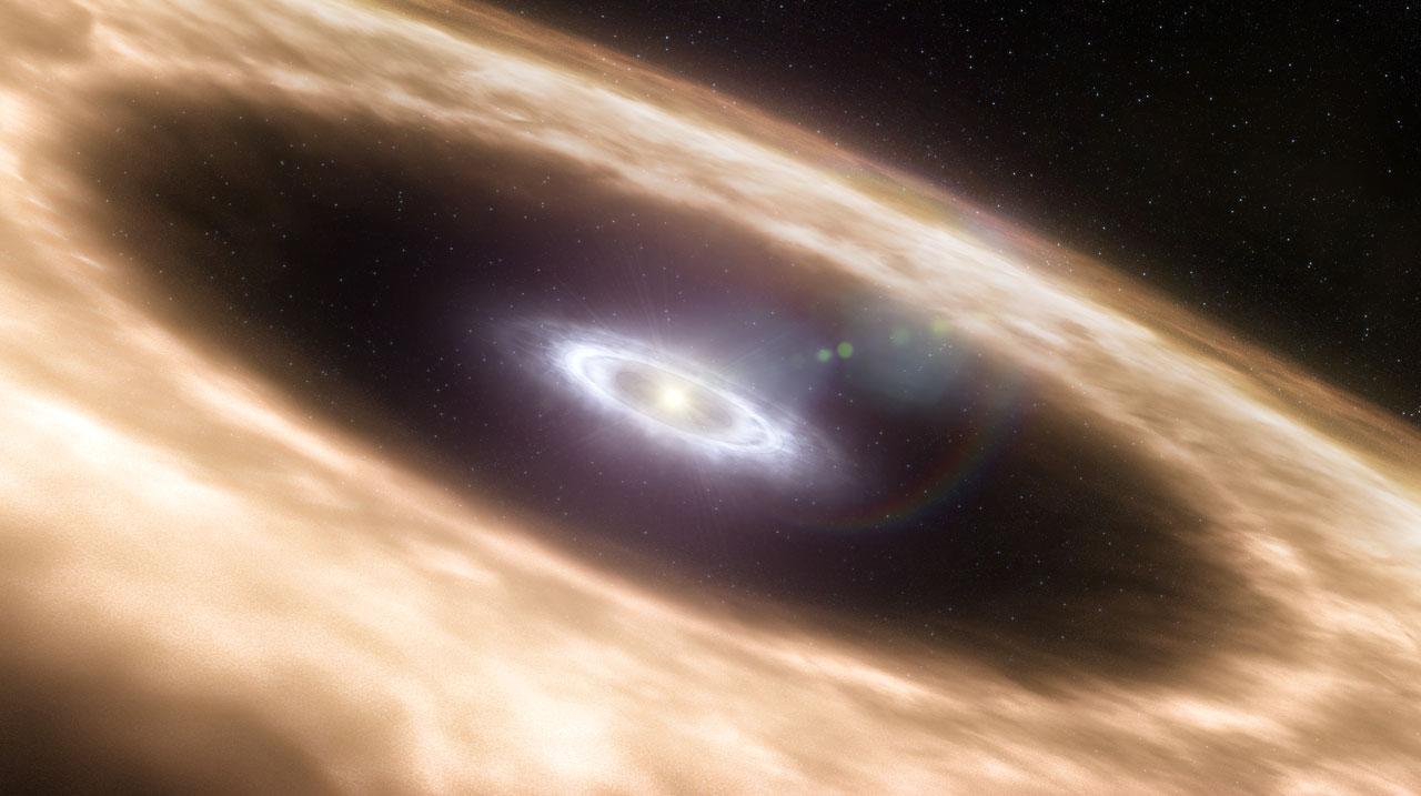 Discos de formación planetaria (impression artística)