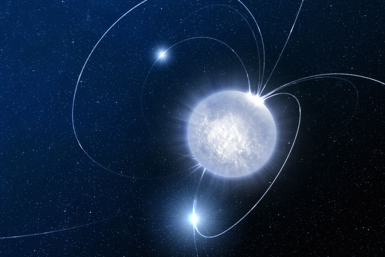 The Hibernating Stellar Magnet (artist's impression)