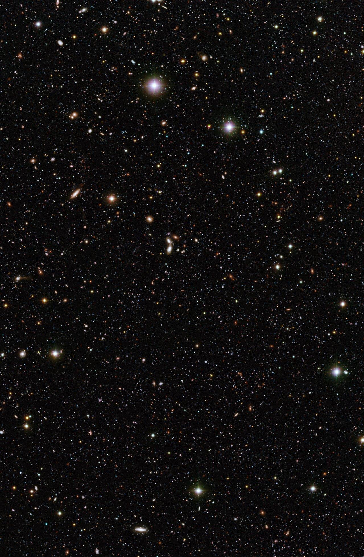 Um conjunto de galáxias distantes
