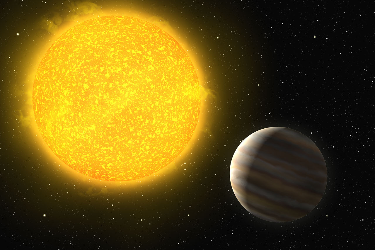 A Planet Around a Hot Star