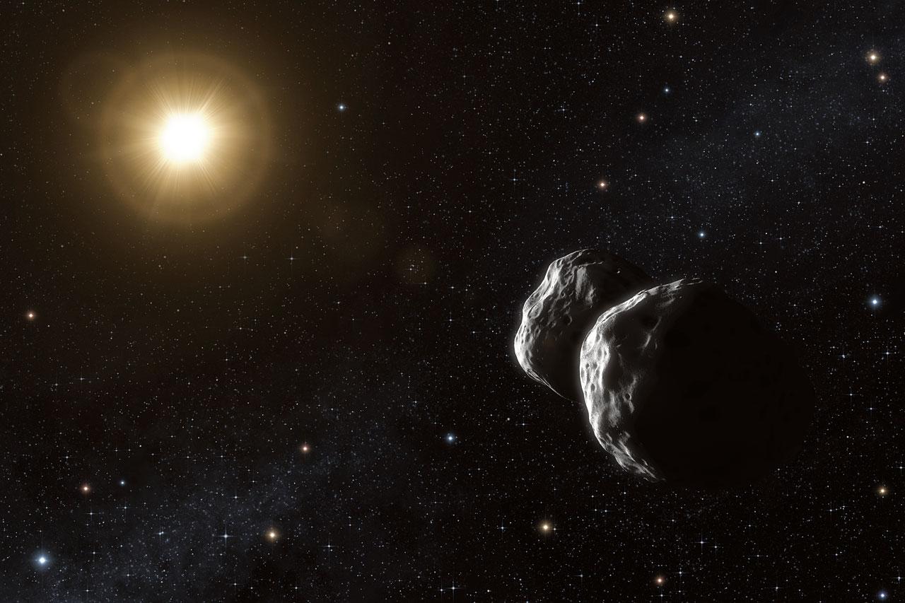Asteroid Barbara (artist's impression)