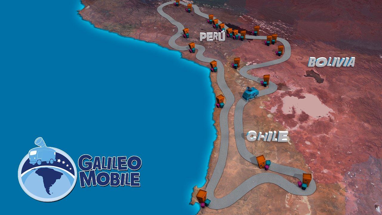 Mapa de ruta para la expedición GalileoMóvil