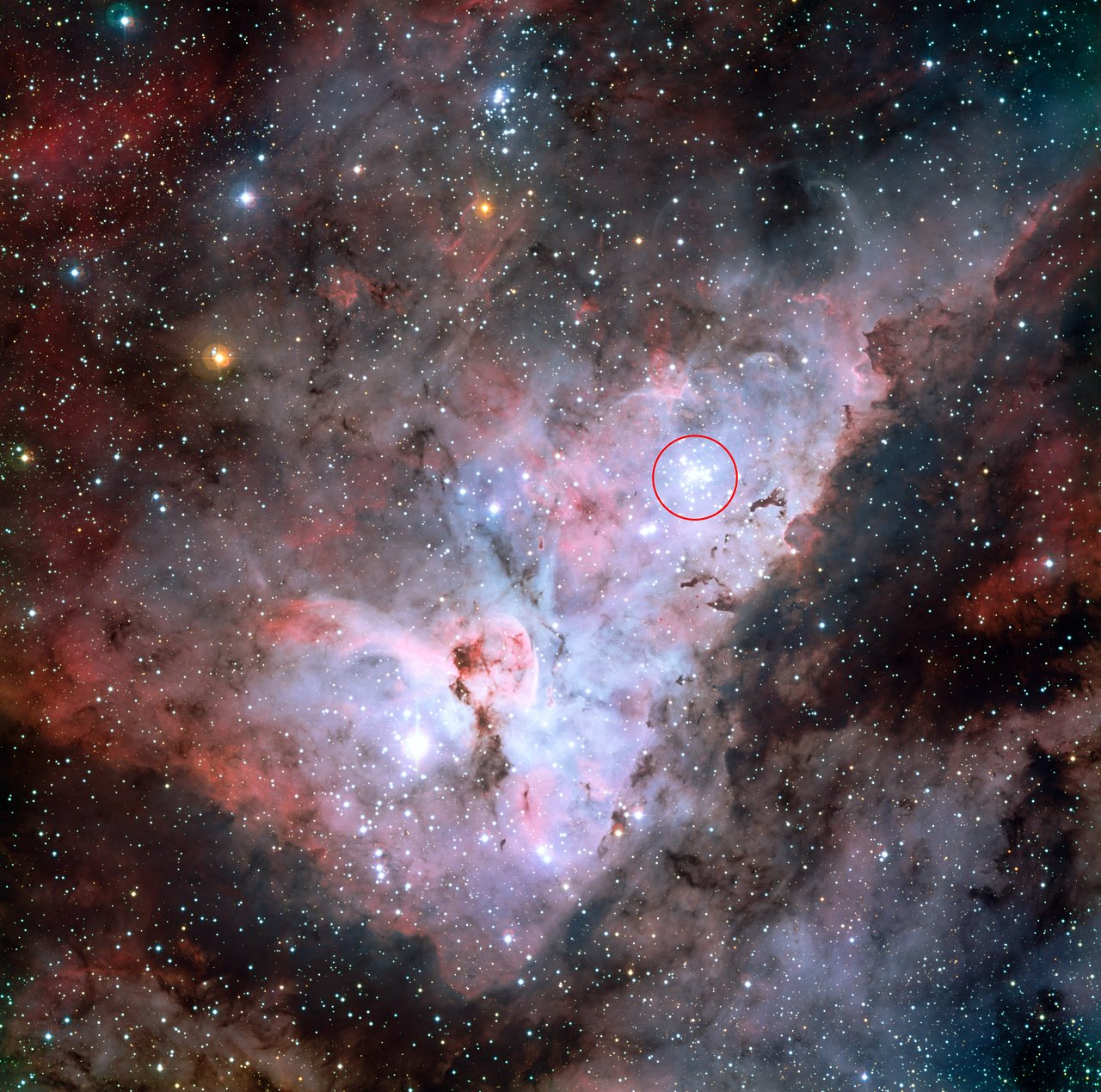 Trumpler 14 in the Carina Nebula