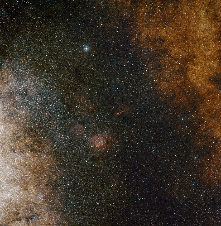 Visión de amplio campo del Centro de la Vía Láctea