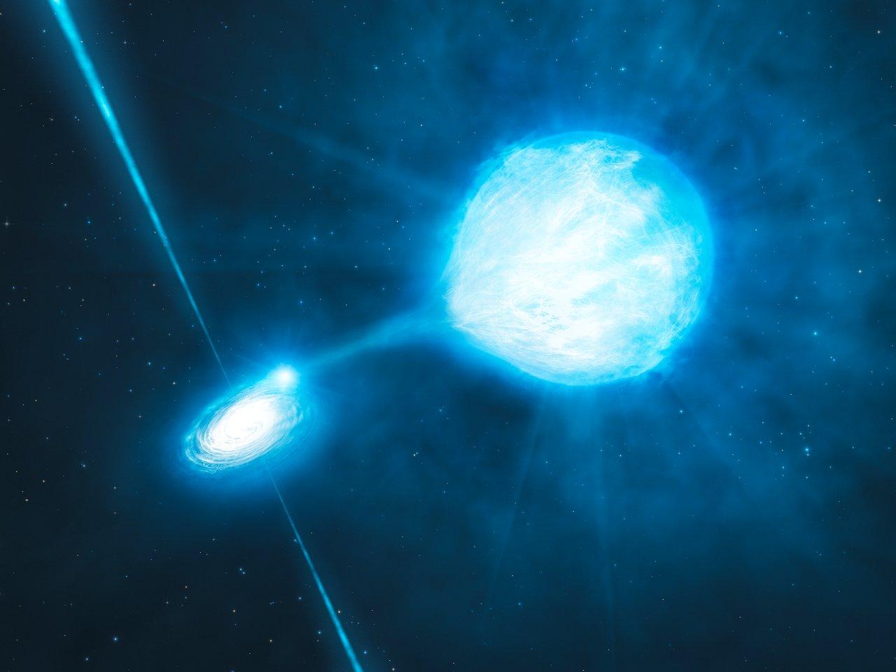 El Agujero Negro dentro de NGC 300 X-1(representación artística)