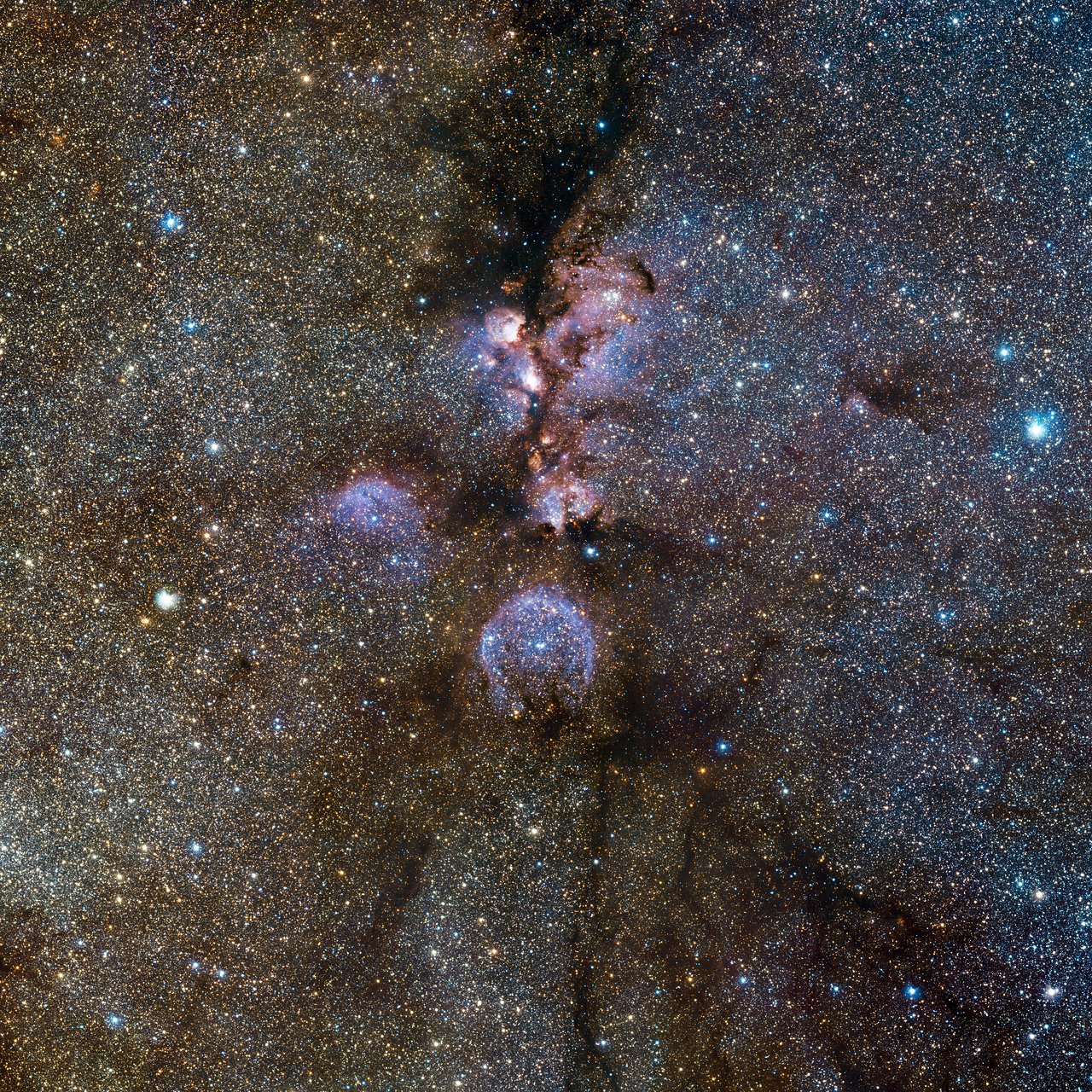 Mounted image 116: VISTA's infrared view of the Cat's Paw Nebula