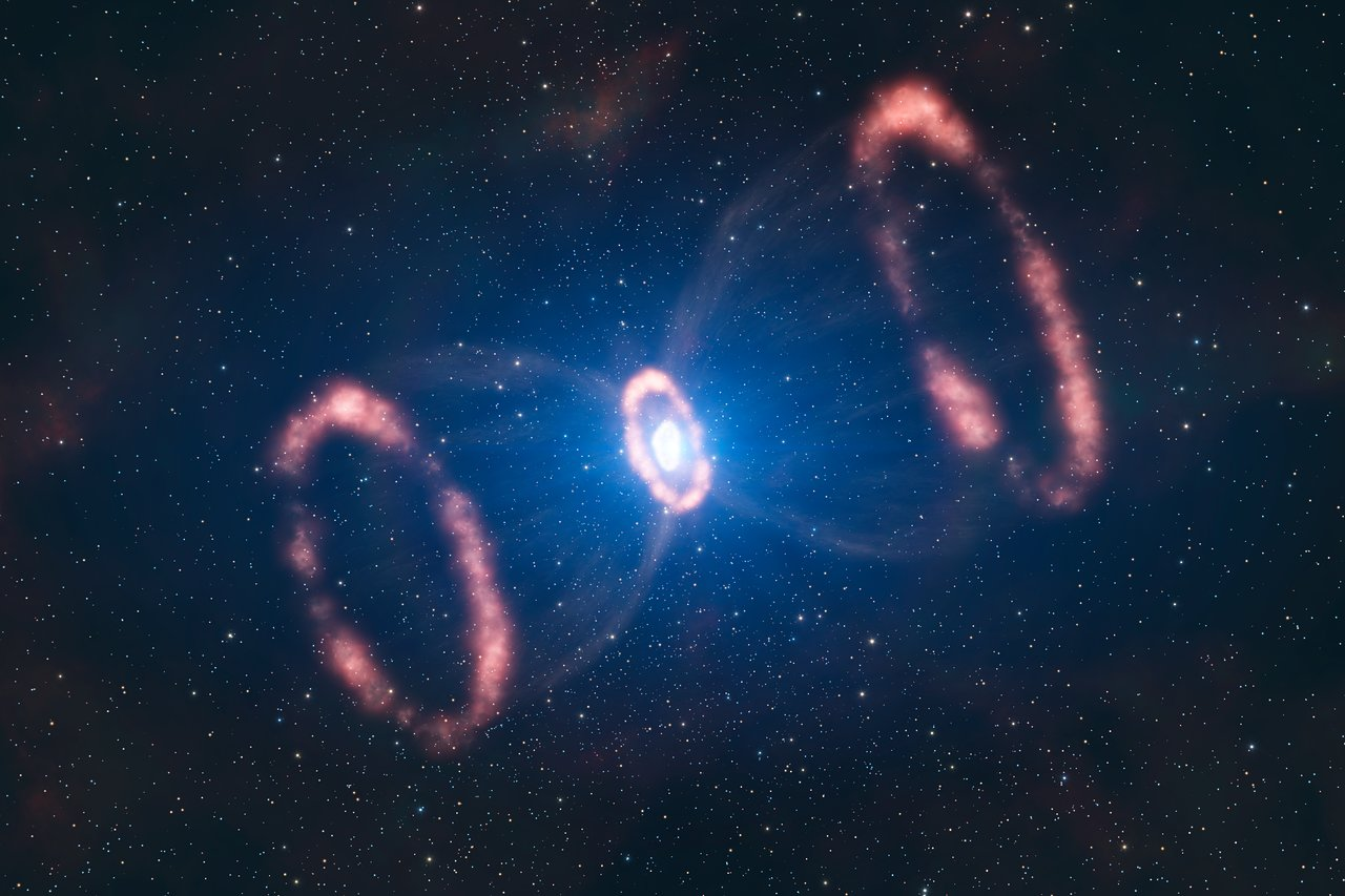 The material around SN 1987A (artist's impression)