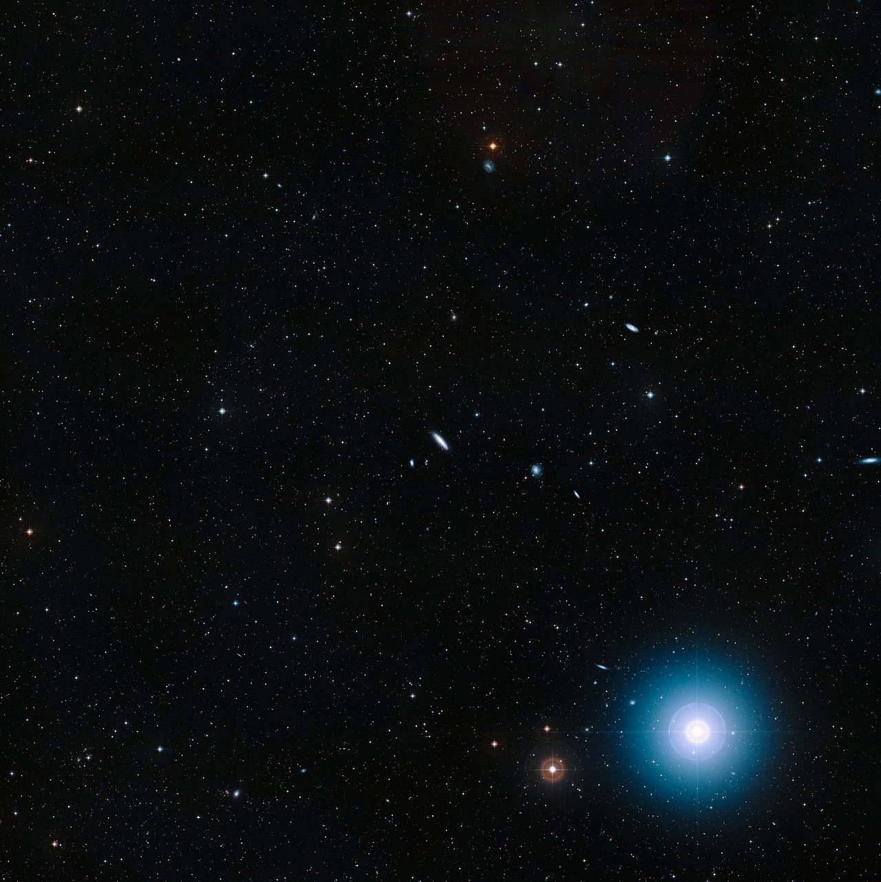 Wide-field view of the field around NGC 4666