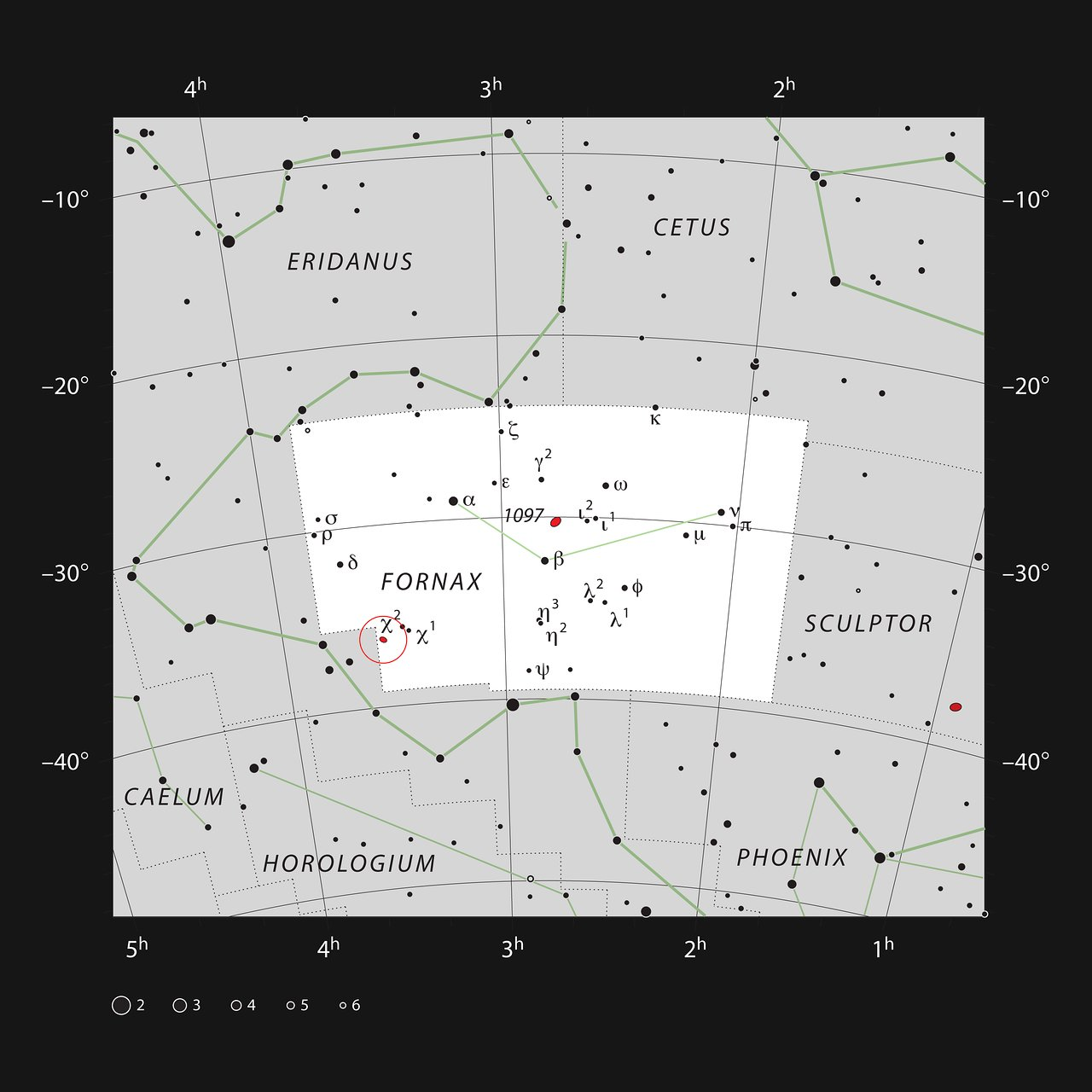 NGC 1365 in the constellation of Fornax