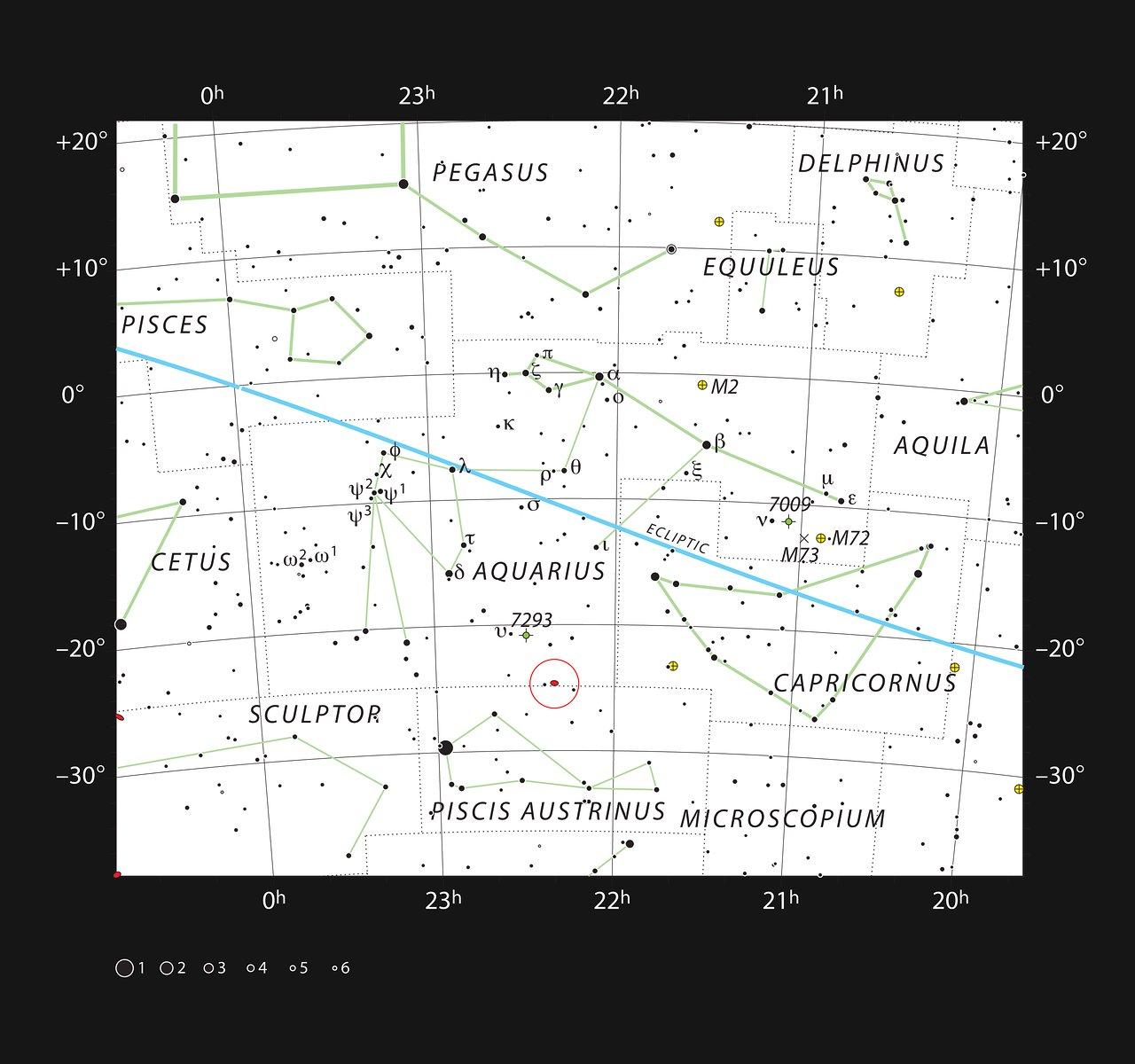 Una colisión galáctica en la constelación de Acuario