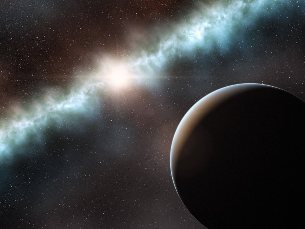 Artist's impression of the disc around the young star T Cha