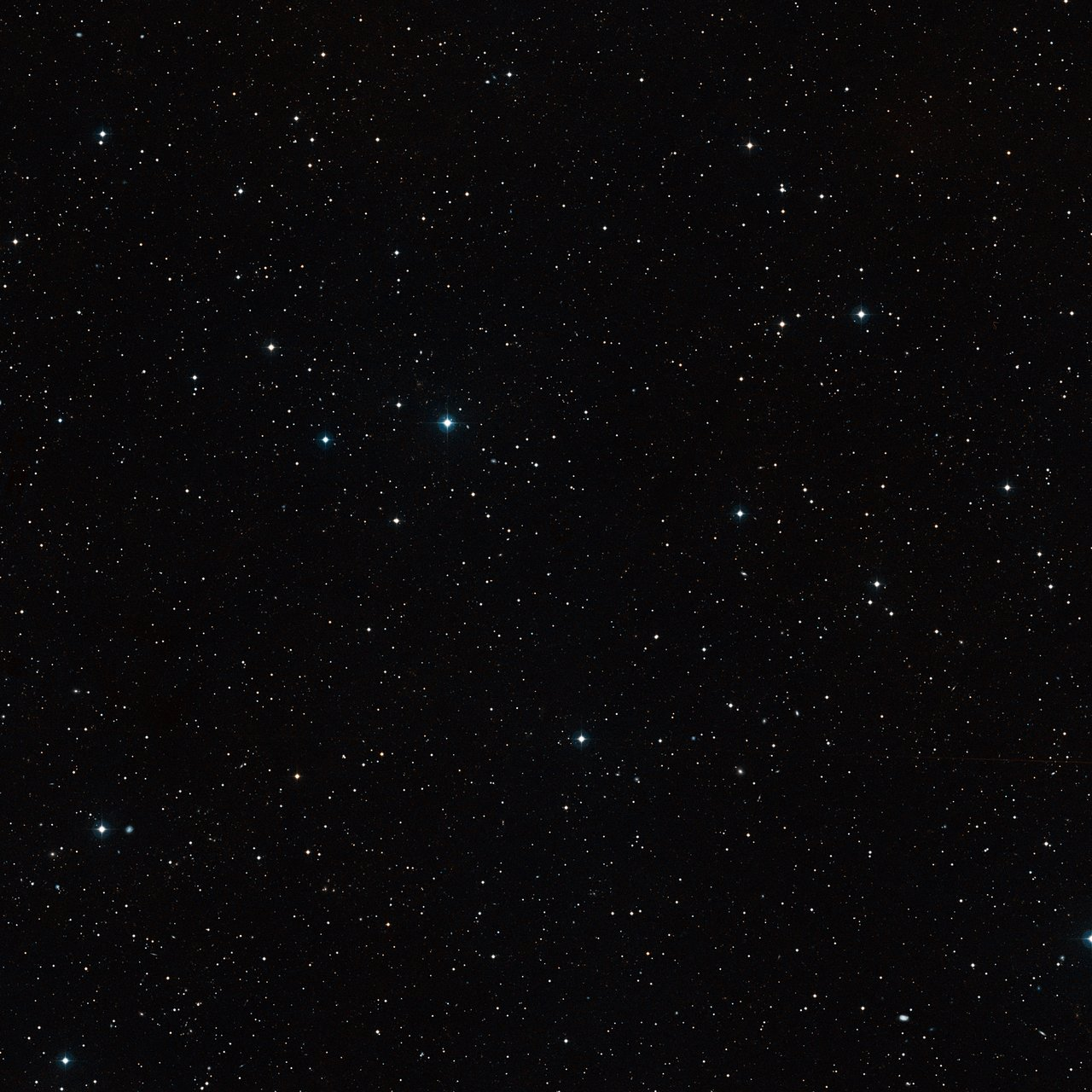 Wide-field view of the sky around the brown dwarf binary CFBDSIR 1458+10