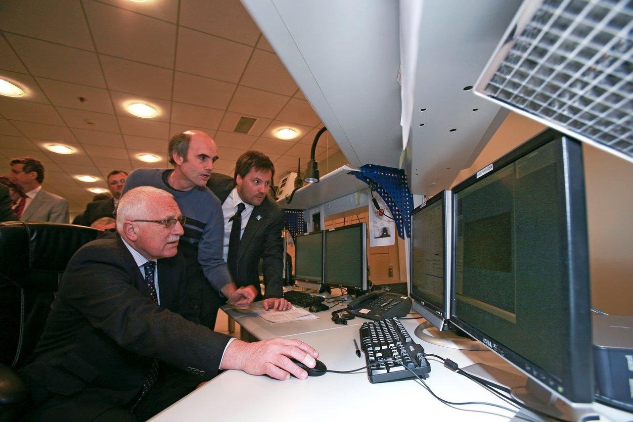 President of the Czech Republic, Václav Klaus, visiting ESO's Paranal Observatory