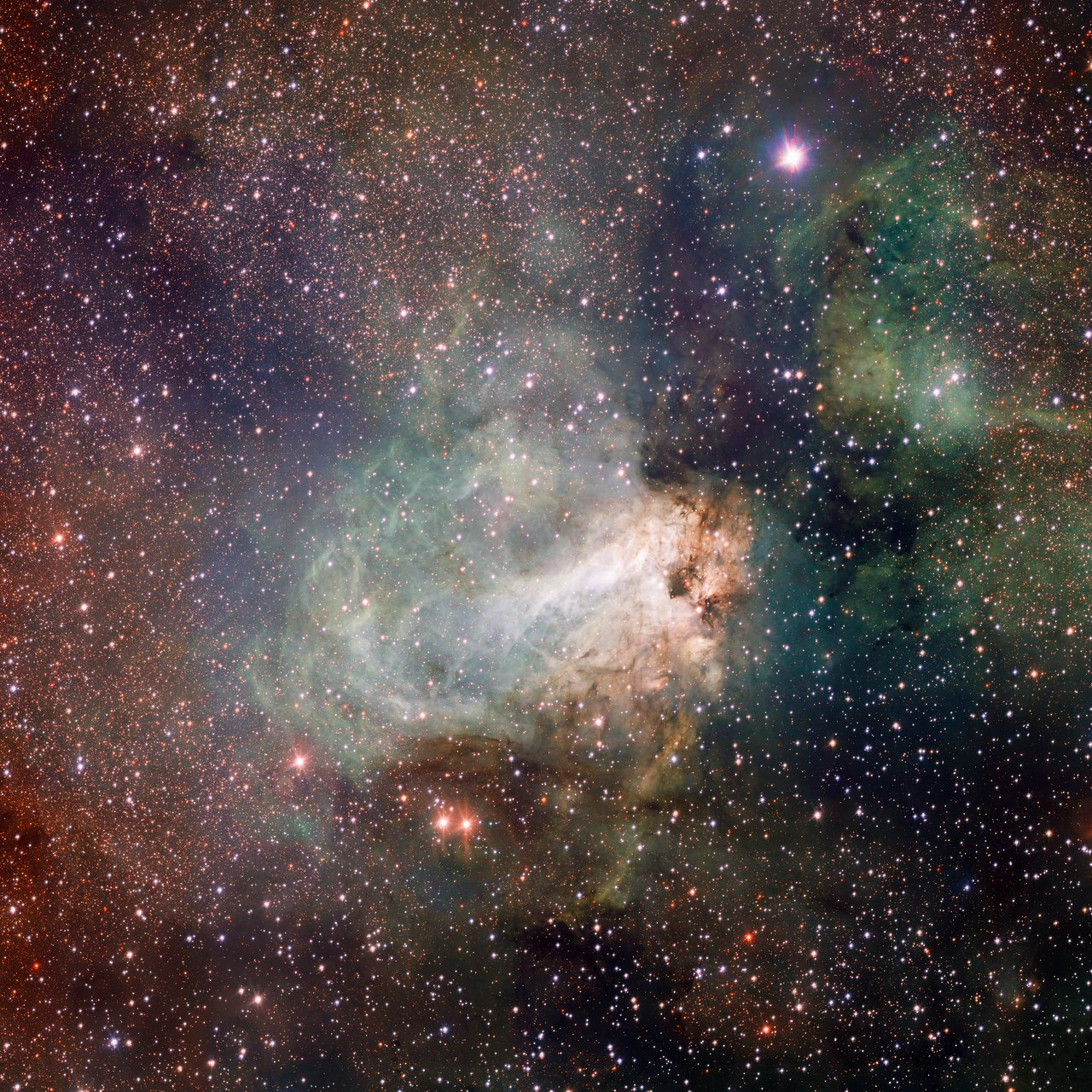Mounted image 130: VST image of the Omega Nebula