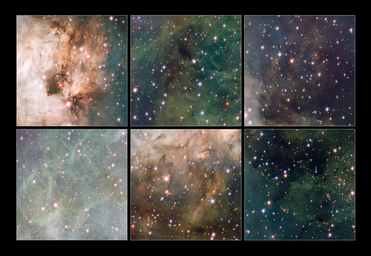 Highlights from the VST image of Messier 17
