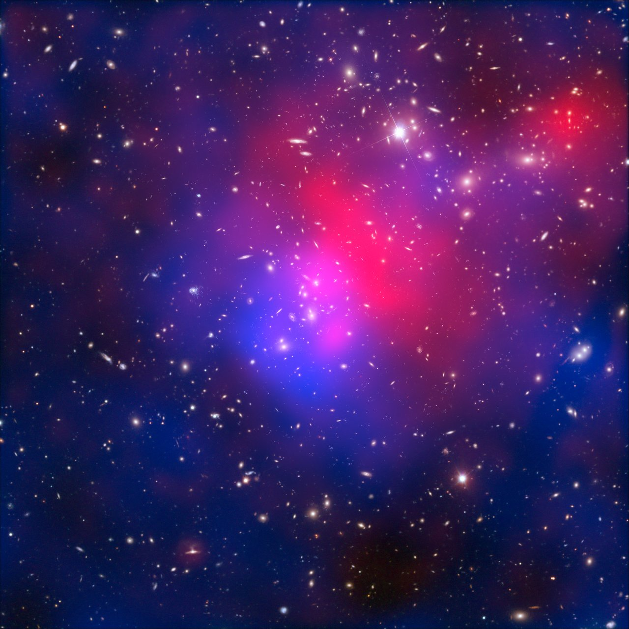 X-rays, dark matter and galaxies in the cluster Abell 2744