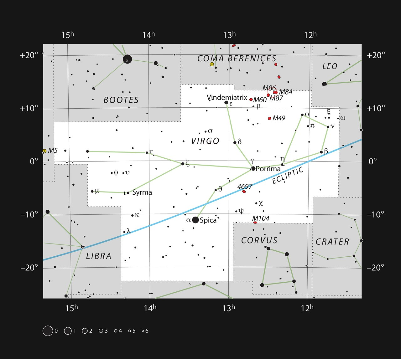 The Eyes in the constellation of Virgo