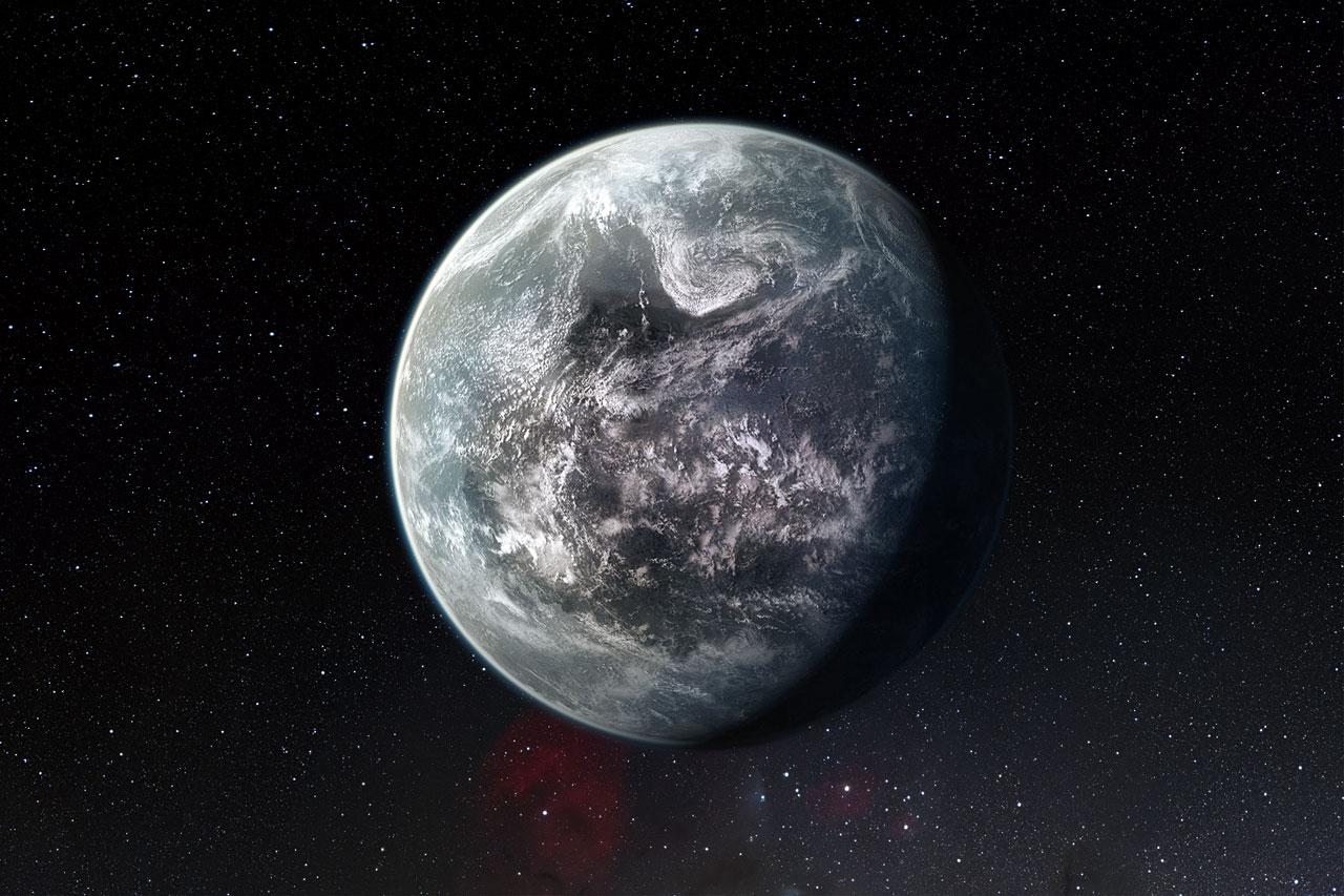 Impresión artística de uno de los más de 50 nuevos exoplanetas encontrados por HARPS: la rocosa súper-Tierra HD 85512 b