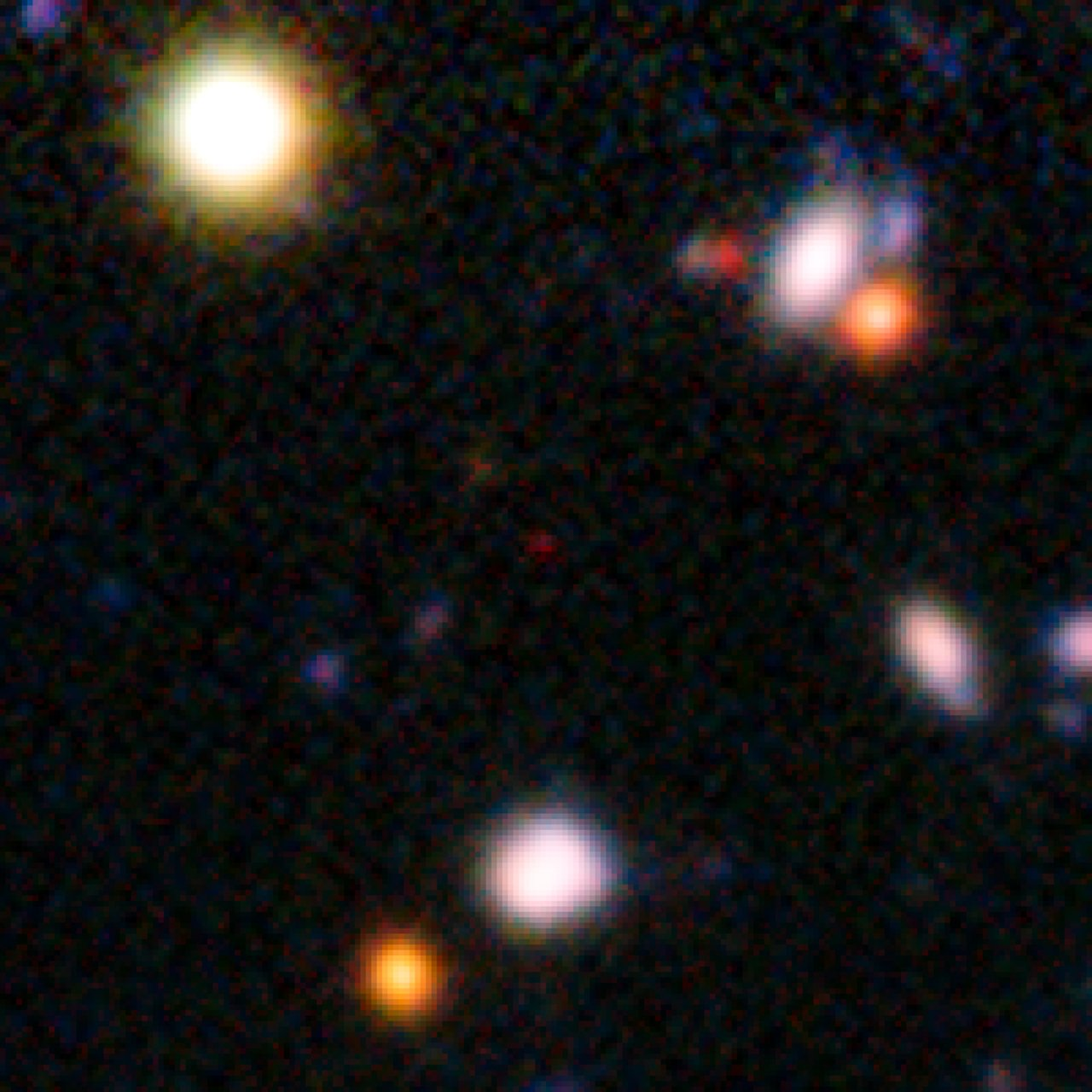 A galaxy seen when the Universe was only 820 million years old