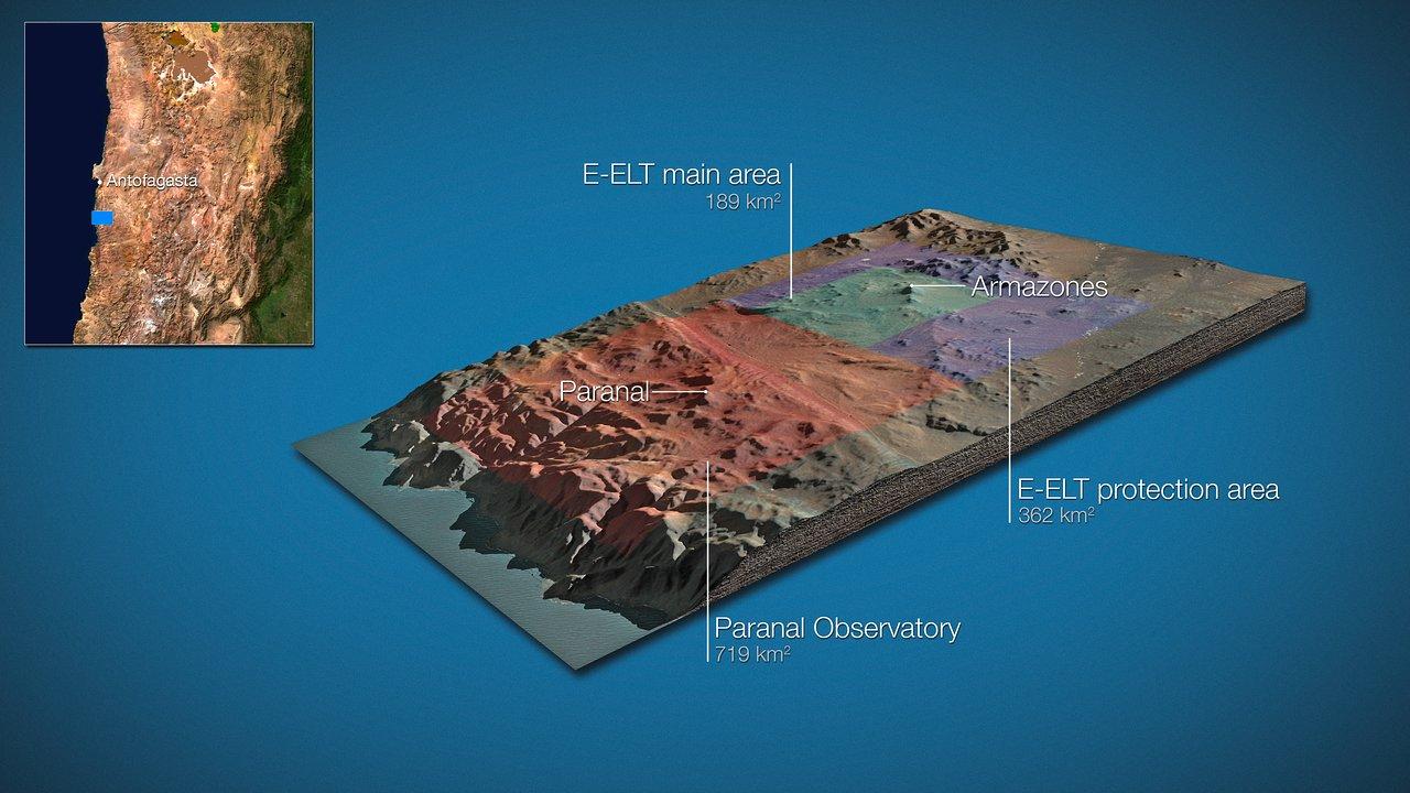 Land around E-ELT and VLT (artist's impression)