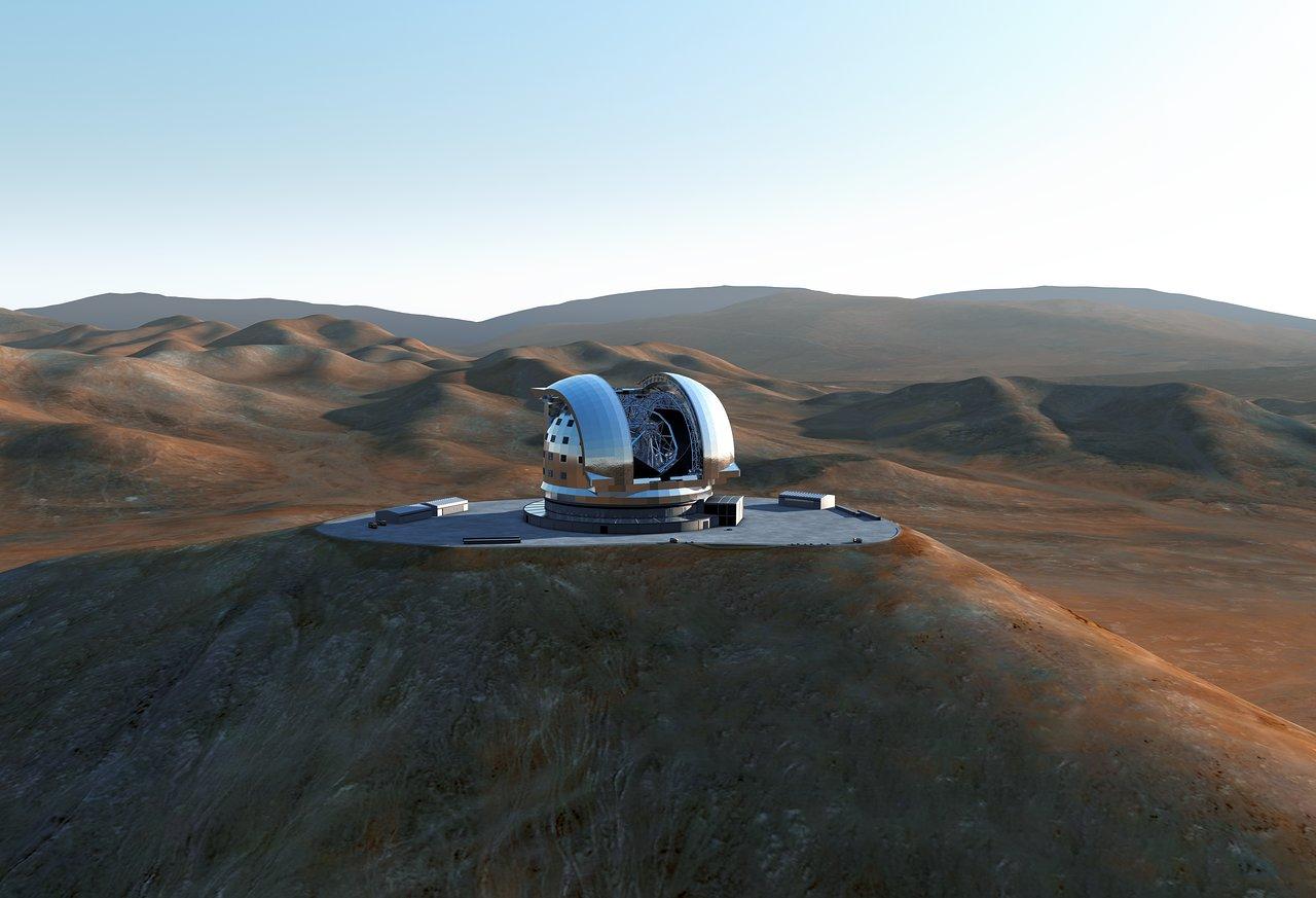 The E-ELT on Cerro Armazones (artist's impression)