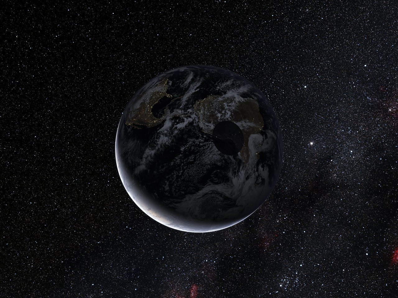 Path of the shadow of the dwarf planet Eris during the occultation of November 2010 (artist's impression)
