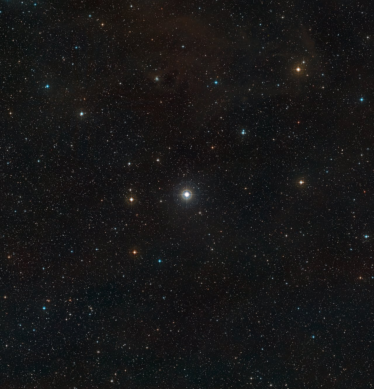 Wide field view of the unusual double star SS Leporis