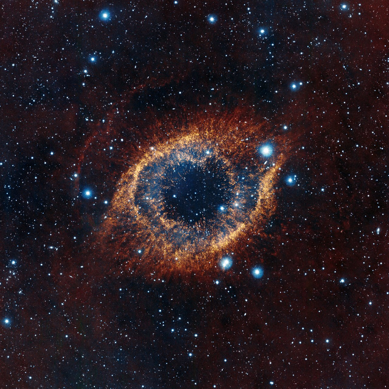 Mounted image 170: VISTA's look at the Helix Nebula