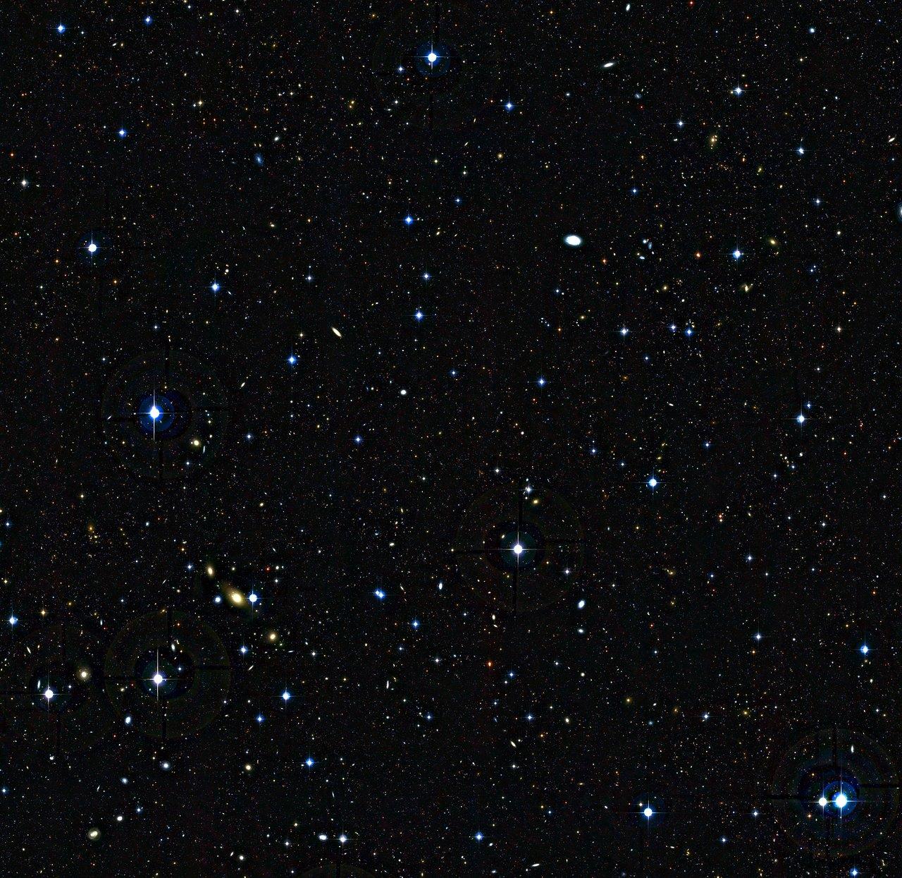 Junge Galaxien im frühen Universum  (unbeschriftet)
