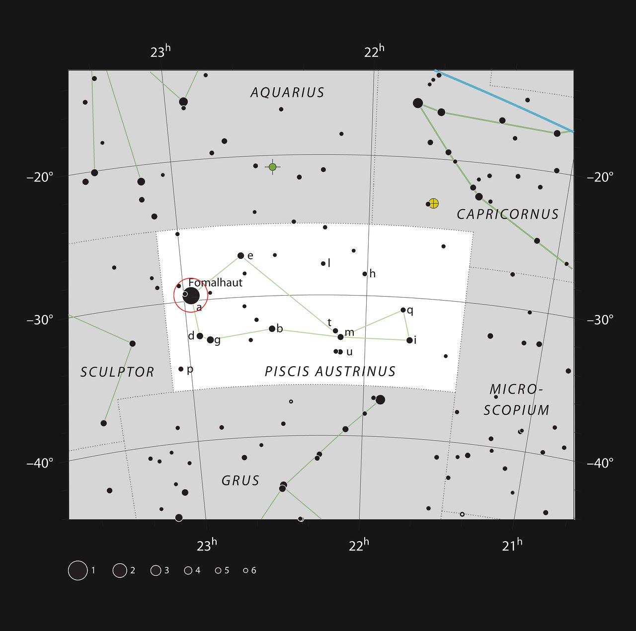 De heldere ster Fomalhaut in het sterrenbeeld Zuidervis