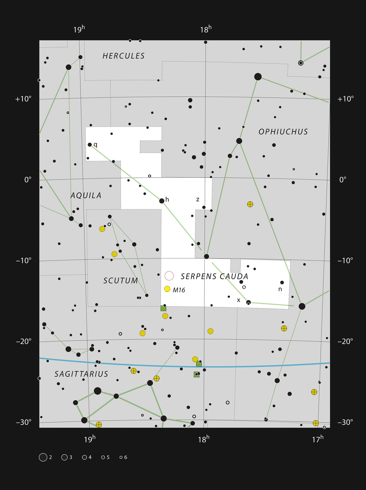 The star cluster NGC 6604 in the constellation of Serpens
