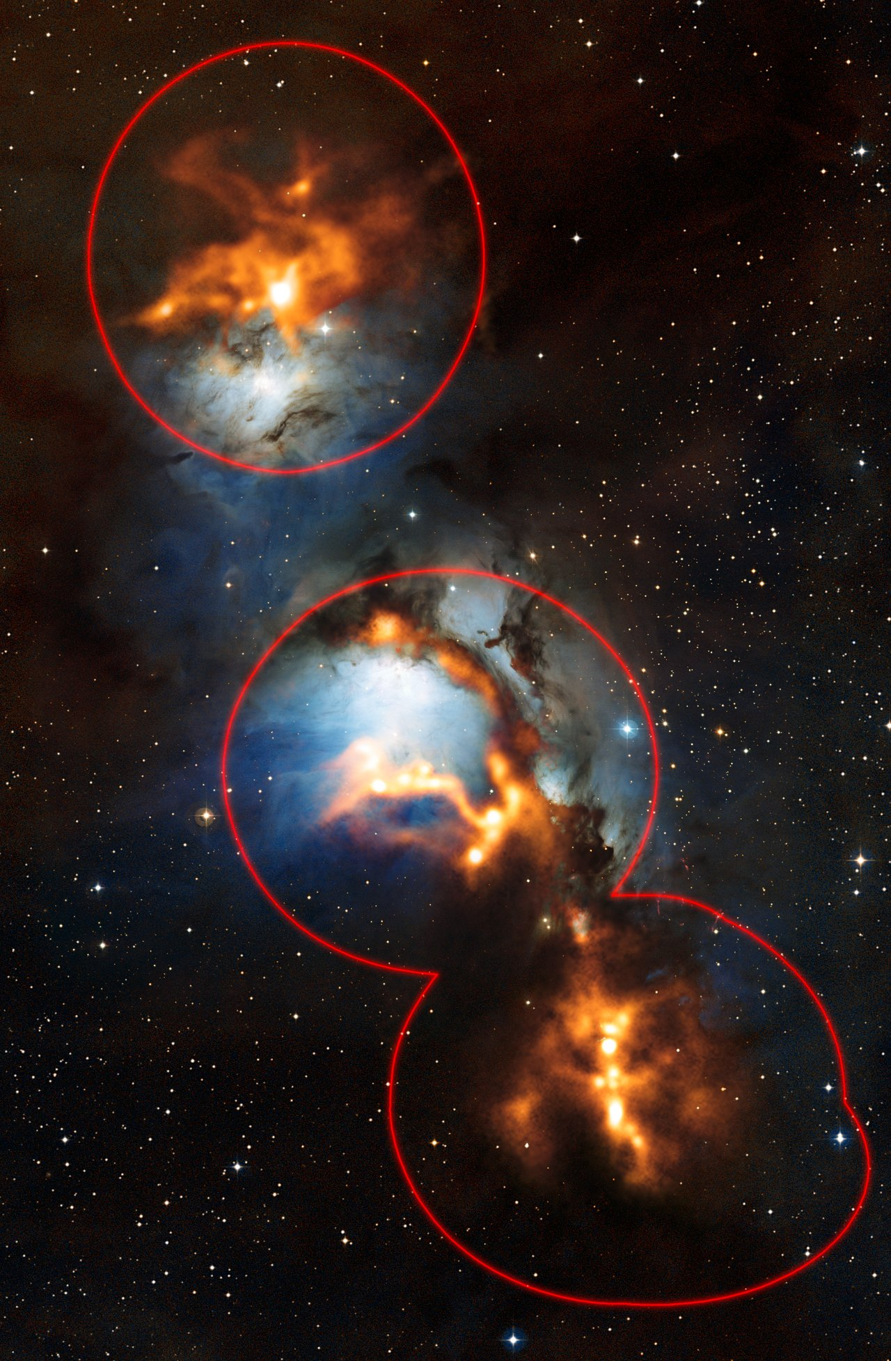 Sifting through Dust near Orion's Belt (data coverage)