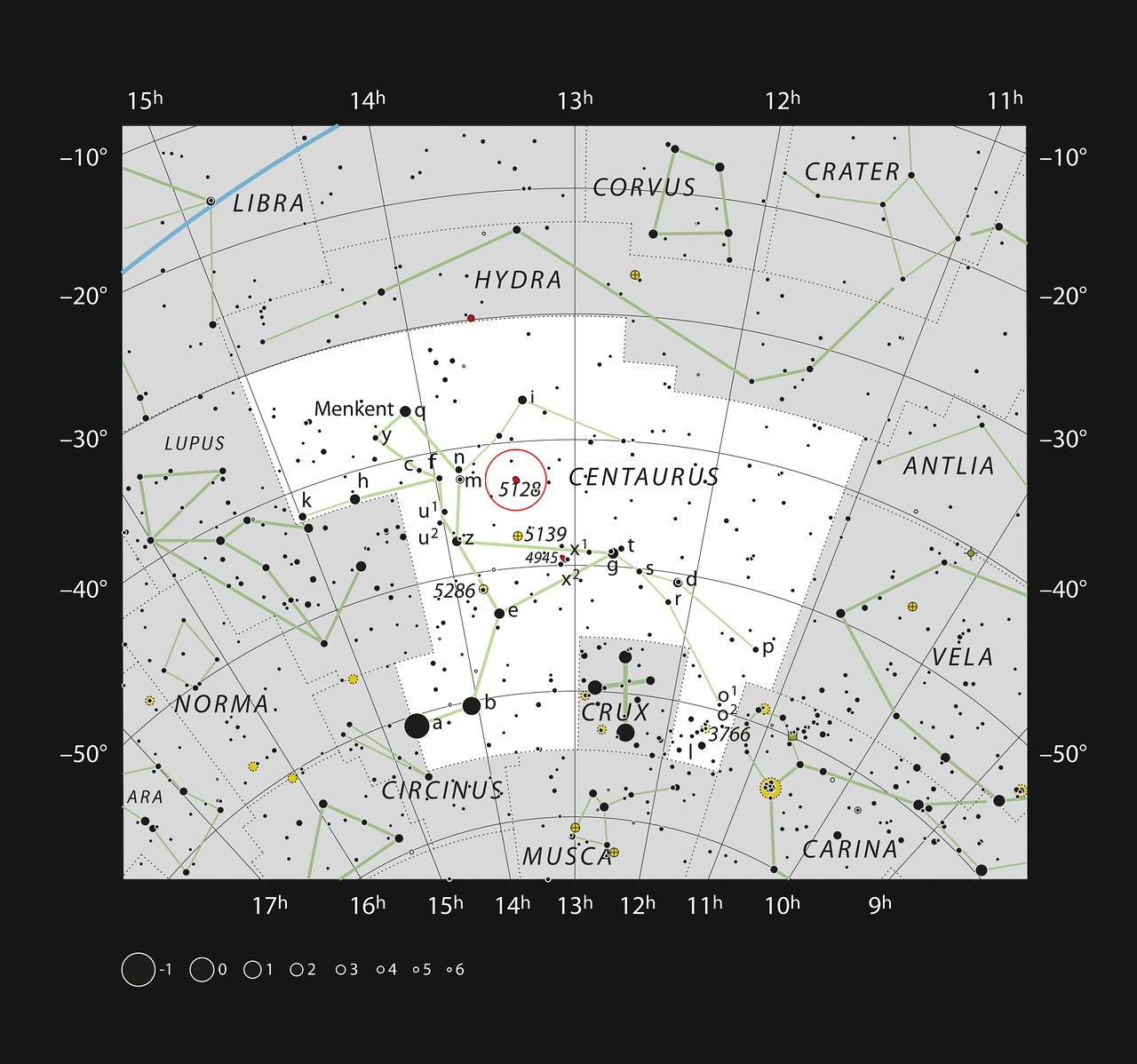 La strana galassia Centauro A nella costellazione del Centauro