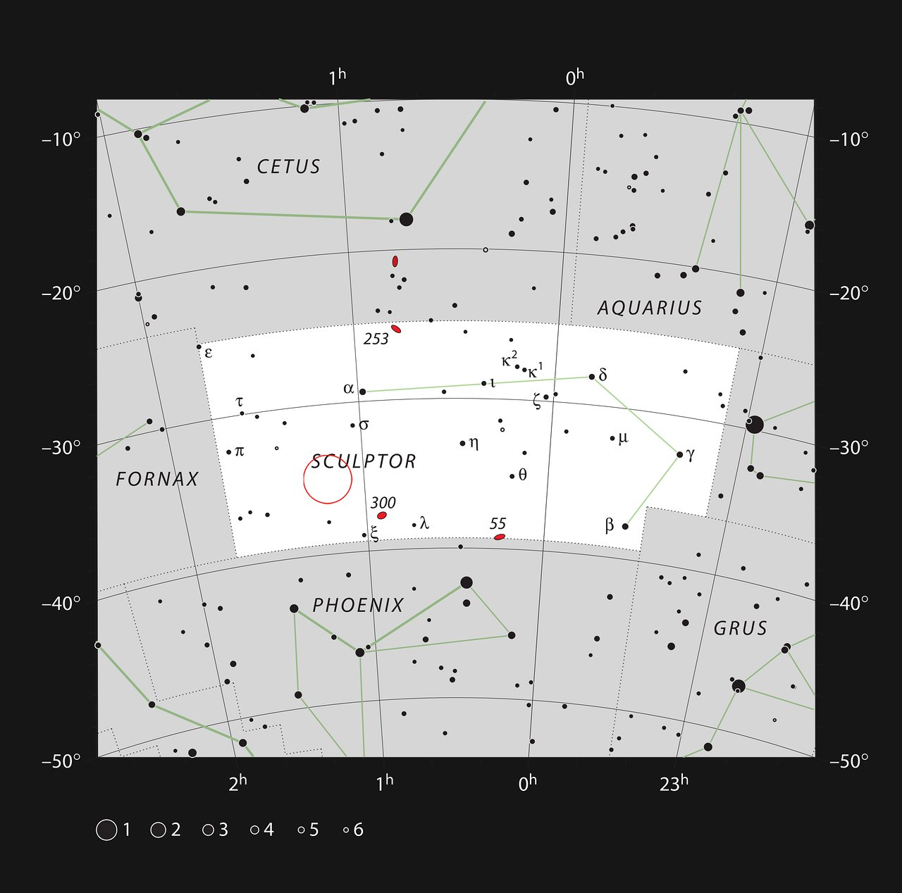 The location of the quasar HE 0109-3518