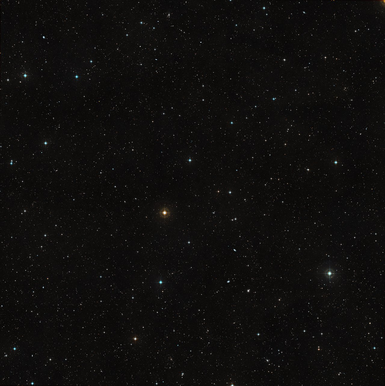 Wide-field view of the sky around the quasar HE0109-3518