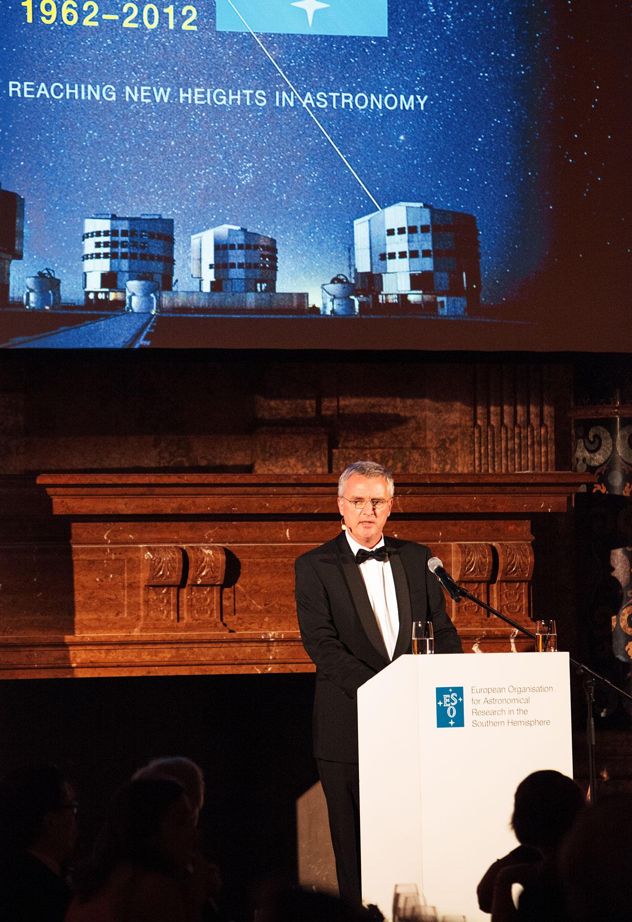 Tim de Zeeuw en la gala del 50 aniversario de ESO