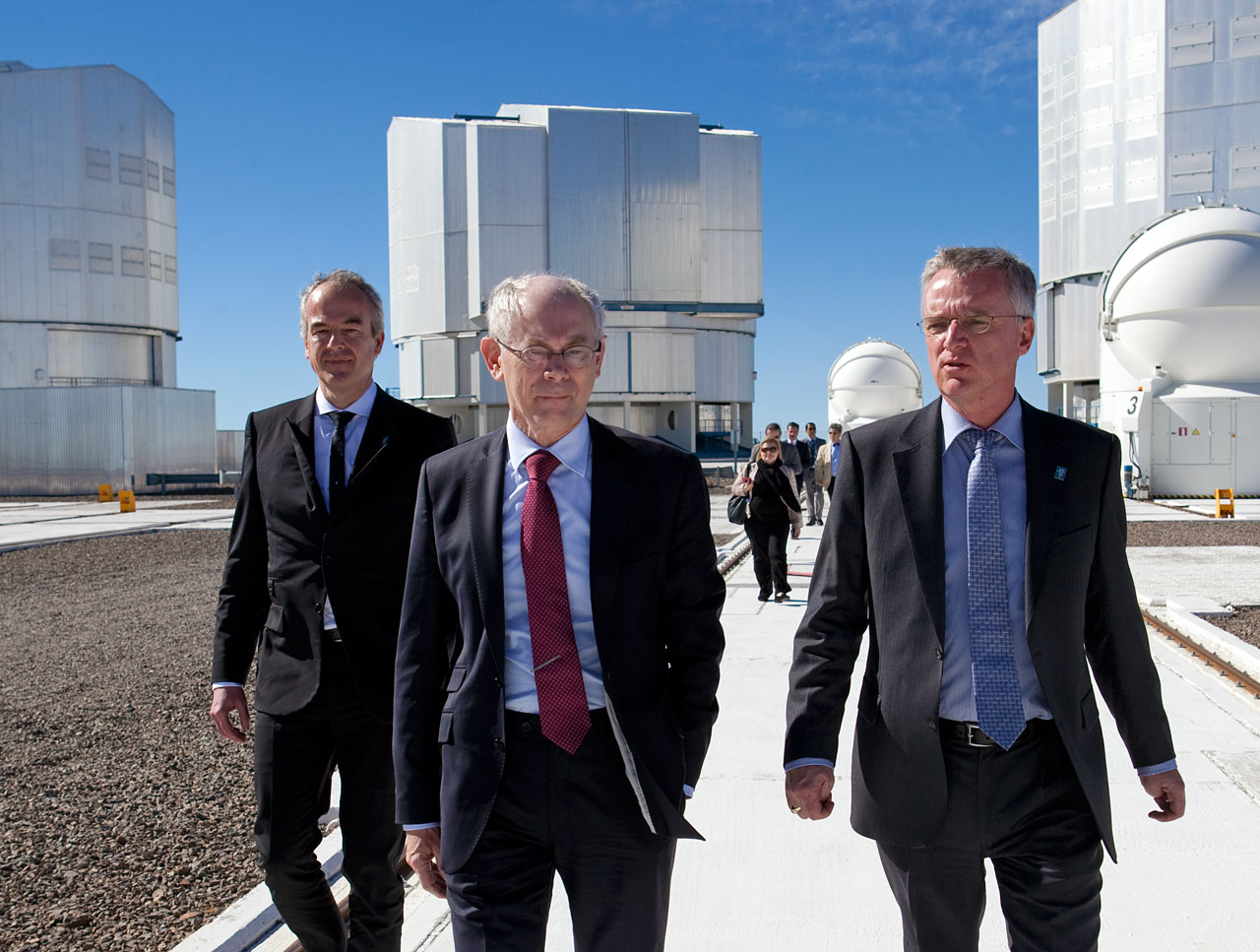 President of the European Council, Herman Van Rompuy, during a visit to the Paranal Observatory